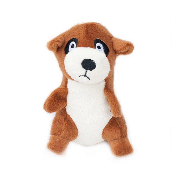 ZippyPaws Zippy Burrow Meerkat Den Squeaky Plush Interactive Dog Toy Zippy Paws