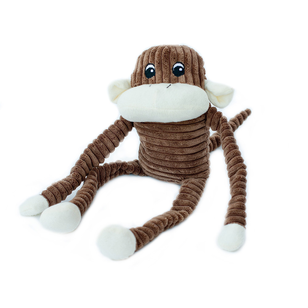Spencer the Crinkle Monkey - Large Brown-0