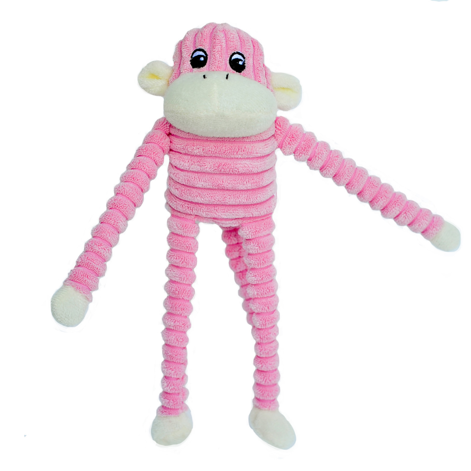 Spencer the Crinkle Monkey - Small Pink-0