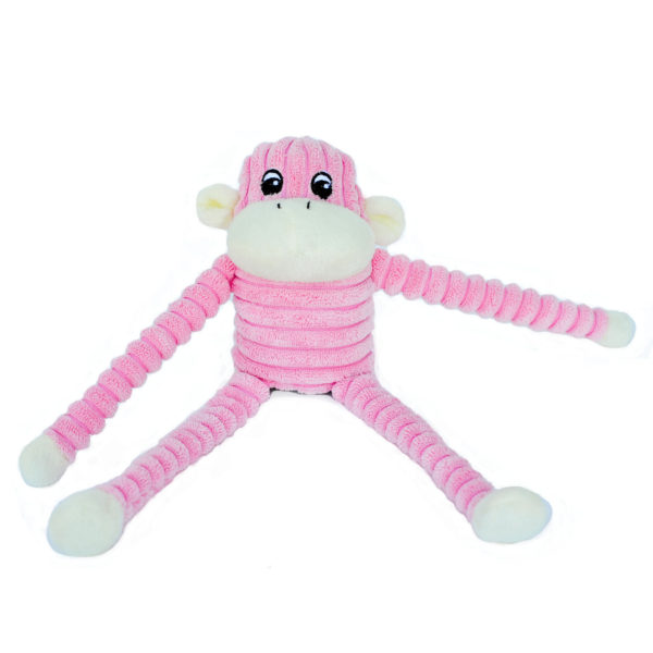 Spencer The Crinkle Monkey - Small Pink Image Preview 3