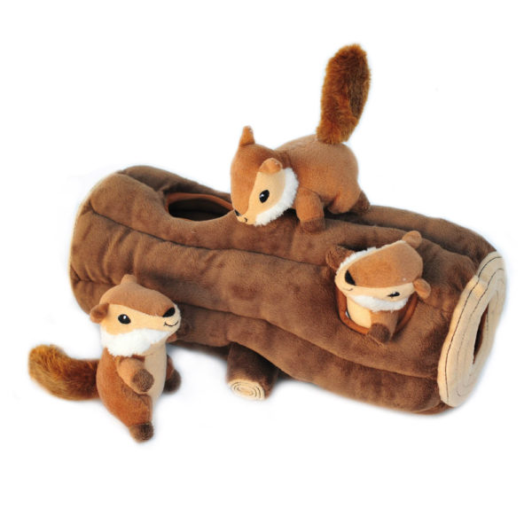 Zippy Burrow Log With 3 Chipmunks Image Preview 5