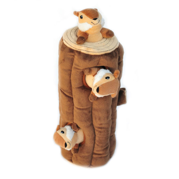 Zippy Burrow Log With 3 Chipmunks Image Preview 6