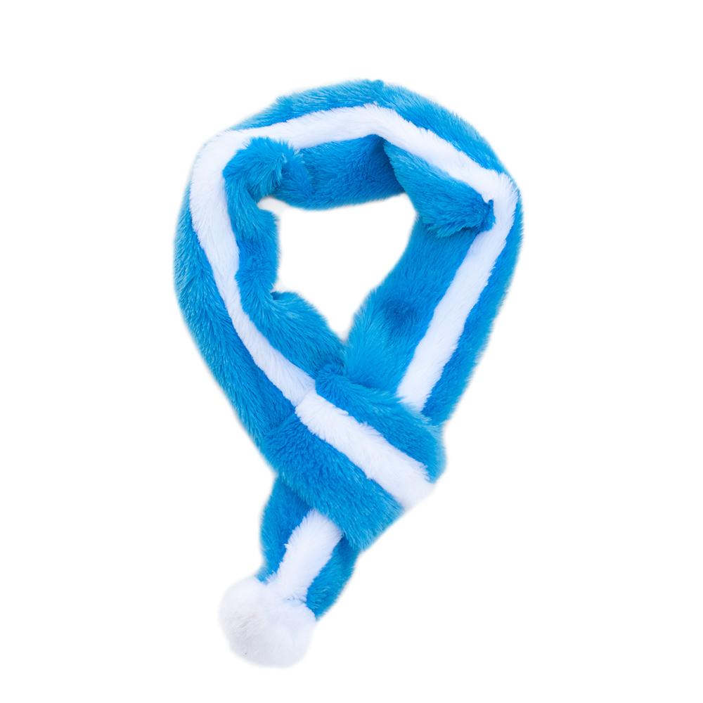 Fuzzy Scarf - Blue-0