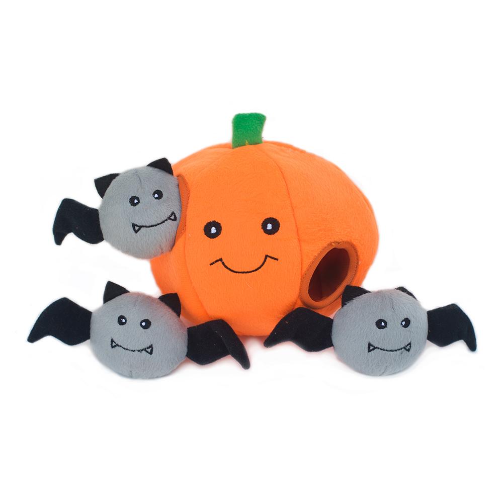 Halloween Zippy Burrow - Pumpkin with Bats-0
