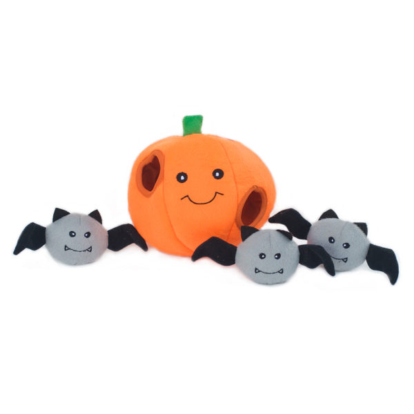 Halloween Zippy Burrow - Pumpkin With Bats Image Preview 4