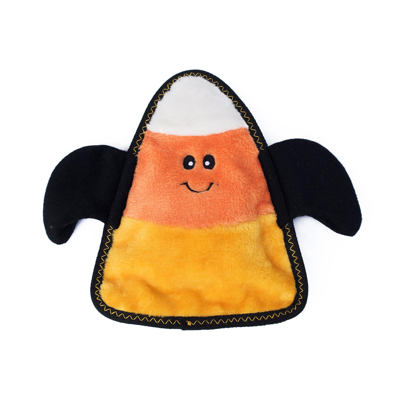 candy corn halloween tough plush squeak toy
