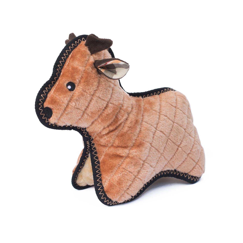 Reindeer tough plush squeak toy