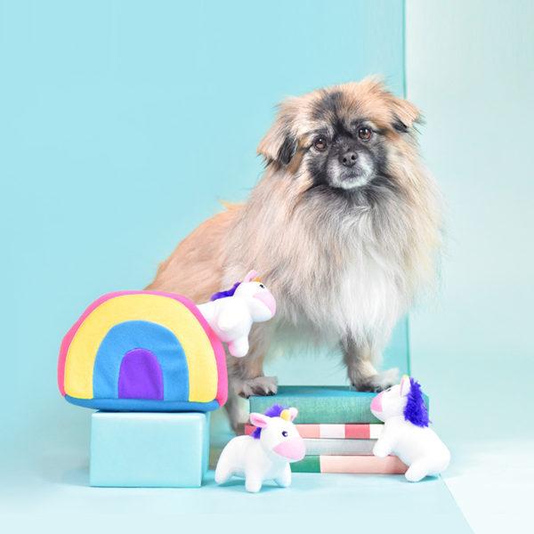 Zippy Burrow - Unicorns In Rainbow Image Preview 1