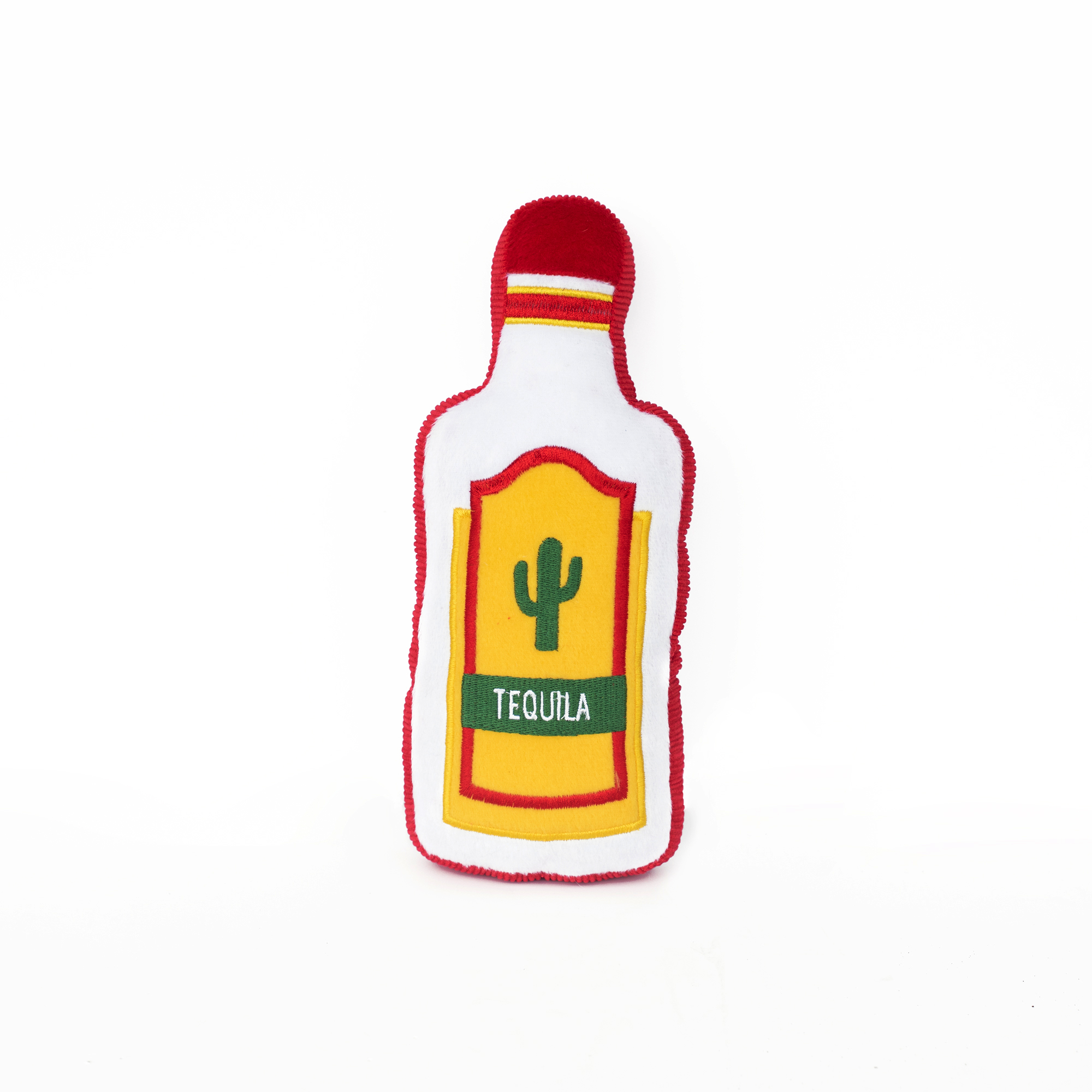 Tequila alcohol plush squeak toy