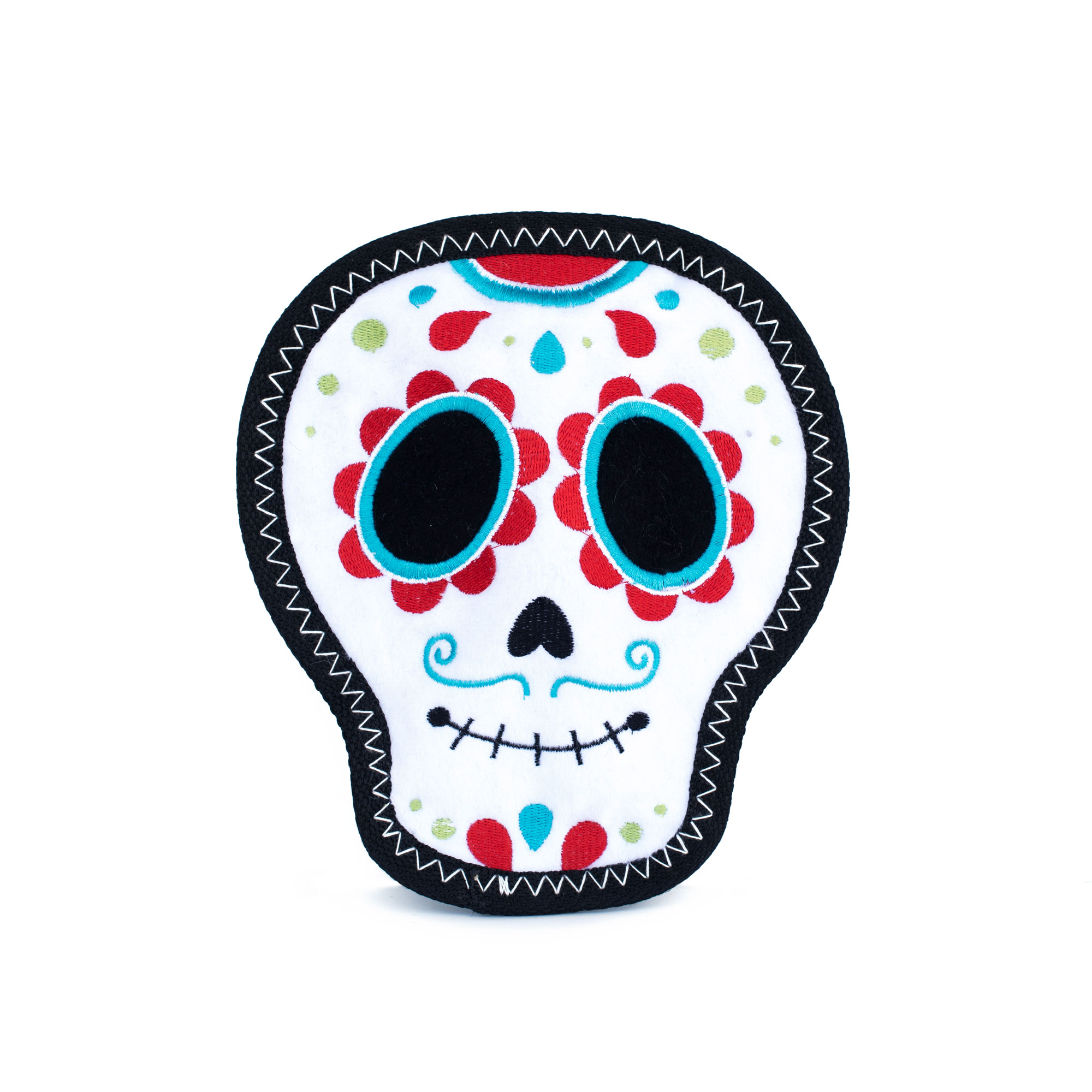 Day of the dead sugar skull tough plush squeak toy