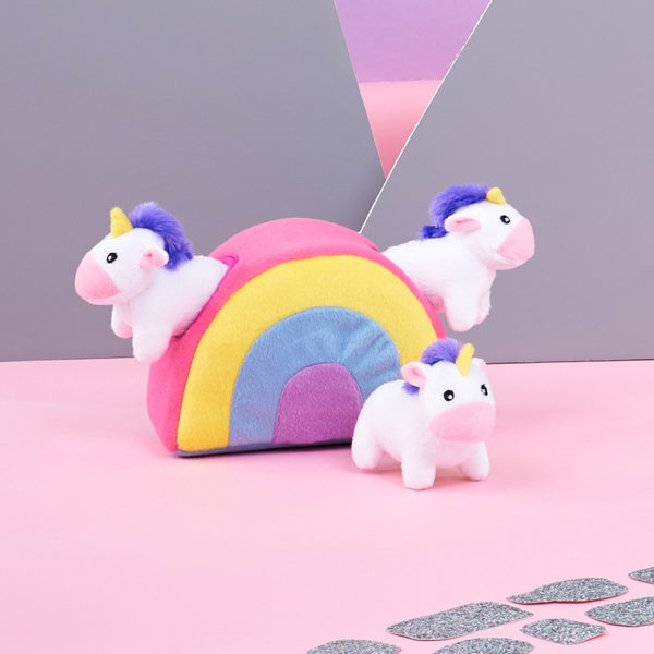 Zippy Burrow - Unicorns In Rainbow Image Preview 2