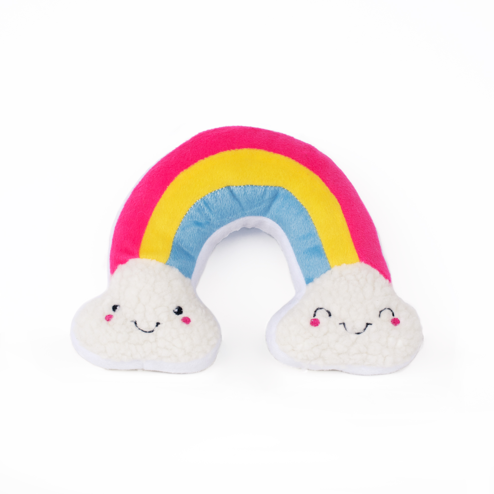 Rainbow Clouds plush squeaky toy